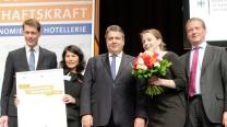 Bundeswirtschaftsminister Sigmar Gabriel, DIHK-Präsident und DEHOGA-Präsident