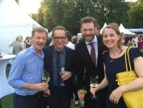 Promitreff beim Sommerfest des Bundespräsidenten auf Schloss Bellevue